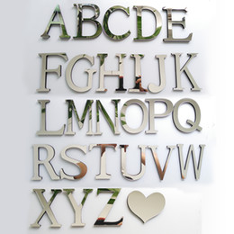 Stock Mirrors Australia - New Acrylic Mirror 3D DIY wall stickers stickers English letters home decoration creative personality Special