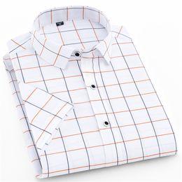 Hot Shirts Man NZ - 2019 Hot Sale Plaid Shirts Short Sleeve Man Dress Shirt Slim Fit Camisa Social Masculins Summer Modis Erkek Gomlek 4XL
