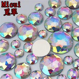 $enCountryForm.capitalKeyWord NZ - Micui 100pcs Round Crystals Chamfering AB Color Acrylic Rhinestones Crystal Stones Flat Back For Clothing Craft Decoration NO hole ZZ721