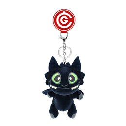 Ring night online shopping - Tame Dragon Periphery Key Ring Short Plush Manual Killer Night Fury Toothless Lovely Pendant Party Favor xt E1