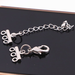 $enCountryForm.capitalKeyWord Australia - 12pcs Silver-color Metal Lobster Clasps Hook Clasps for Jewelry Making Finding DIY Necklace Bracelet 3 rows Hooks Connector A536