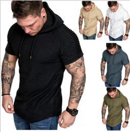 Beige Short Leggings Australia - Men's T-shirt pure cotton men's short sleeves sports fitness leisure outdoor sports leggings new European and American fashion brands