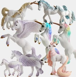 $enCountryForm.capitalKeyWord Australia - Newest PVC Unicorn Figure Model Toy European Myths Legends Plastic Doll Unicorn Toys For Kids Brinquedos