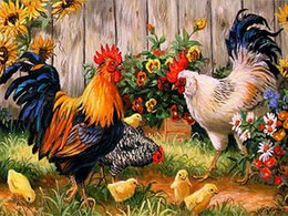 Nude Kit Australia - DIY 5d Diamond Painting Number KIT Full Diamond Rooster HEN Chicken Embroidery Cross Stitch ARTS Handmade Canvas Wall Decoration