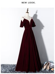 victorian short dress costume Canada - Freeship 100%real wine red velvet court medieval dress renaissance Gown queen Victorian  Marie  Belle Ball stage  gown