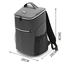 lunch bags boys Australia - 20L 600D oxford big cooler bag thermo lunch picnic box insulated cool backpack ice pack fresh carrier thermal shoulder bags SH190923