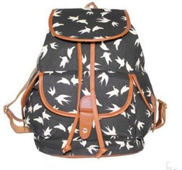 $enCountryForm.capitalKeyWord UK - Designer-Europe and the United States wind -2017 fashion canvas printing swallow shoulder bag casual backpack