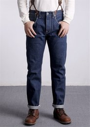 Wholesale dark blue mens jeans for sale – denim Straight Designer Mens Jeans LVC Dark Blue Long Denim Mens Pants Spring Summer Stretch Male Jeans