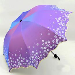 $enCountryForm.capitalKeyWord Australia - Beautiful Shine Reflective Women's Umbrella Flower Blossom Princess Girl Floral Umbrellas Uv Parasol Folding Paraguas Gift Us098 T8190619