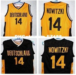Men  14 DIRK NOWITZKI TEAM DEUTSCHLAND GERMANY College Vintage jersey Size  S-4XL or custom any name or number jersey 88774224b