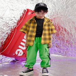 Hip Hop Clothing Babies NZ - Baby boy summer clothes 2019 set 4 6 8 10 12 14 16 18 Years jazz hip hop dance costumes for kids toddler boy clothes 120 130 140