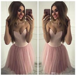 $enCountryForm.capitalKeyWord Australia - Sexy Sweetheart Pink Homecoming Dresses Sleeveless A-Line Tulle Elegant Design Party Dresses Custom Made Simple Cocktail Dresses