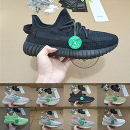 Glow liGht shoes online shopping - 3M Static Black Reflective Kanye West Running Shoes Antlia Synth Lundmark Gid Glow True Form Clay Zebra Cream White Designer Sneakers