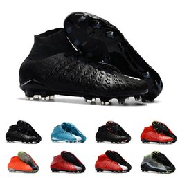 Pack Spikes Australia - Mens Soccer Cleats Hypervenom Phantom III EA Sports FG For Men Soccer Shoes Soft Ground Football Boots Cheap Rising Fast Pack Neymar Boots
