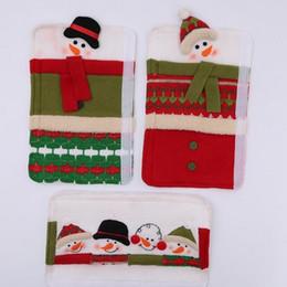 $enCountryForm.capitalKeyWord Australia - Christmas Refrigerator Door Ornaments Fridge Knob Decoration Microwave Oven Snowman Kitchen Appliance Handle Covers for Home Set of 3