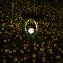 $enCountryForm.capitalKeyWord Australia - Onlymonkey metal outdoor lights decorative solar garden light with ball for yard two colors Big discounts 16pcs lot drop shipping