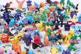 Pikachu Figure Wholesale Australia - 144pcs sets cartoon monster Pikachu Action Figures toys 2-3 cm Decoration PVC toy for kids gift V030