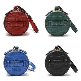 Lady Mini Handbag Australia - 2019 Luxury Fashion Mini PU Leather Round Bag Crocodile Pattern Solid Color Handbag Ladies Clutch Bags Women Lady Handbag
