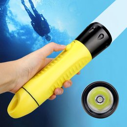 dive torch flashlight Canada - Professional Diving Flashlight Direct Charge Lanterna Hard light Waterproof IPX8 Torch ABS L2 LED 3 mode built-in battery 20-60M
