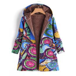 Womens Parkas Australia - 2018 New Womens Hooded Jacket Zipper Coat Plus Size 5XL Autumn Winter Flower Print Warm Plush Velvet Outerwear Parkas 6Q2452