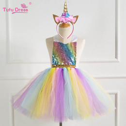 girls dresses rainbow tutu Australia - Rainbow sequin party girls dresses kids clothes girls dress kids princess dress girl dresses for wedding tutu girls dress A6940