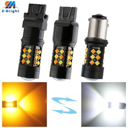 3157 tail bulb Canada - 4X P21 5W 1157 BAY15D 3030 30 SMD W&A Dual Color led Bulb 3157 7443 Vehicles Backup Tail Turn Signal Parking Light Indicator
