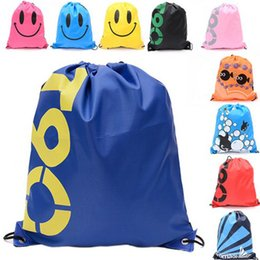 toy clothing Canada - 1pc Waterproof Drawstring Backpack Outdoor Travel Organizer Housekeeping Pouch Storage Bag for Clothes Shoes Kids Toy