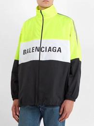 $enCountryForm.capitalKeyWord Australia - European youth fashion retro sports jackets men windproof high collar zipper century brand letter print stitching classic long sleeve shirts