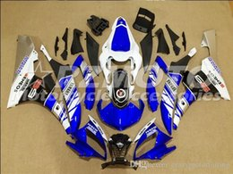 R6 White Blue Australia - 3 Free gifts New Injection ABS Fairing Kits 100% Fitment For YAMAHA YZF-R6 06-07 YZF600 2006 2007 R6 bodywork set White Blue color D9
