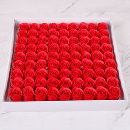 Soap diSplayS online shopping - 15colors Simulation Rose soap creative holiday wedding Rainbow Soap gift single flower head multicolor option