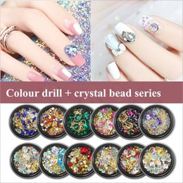 kind beads 2019 - 12 Styles Nail art Mixed loading Metal Rhinestone Crystal beads All kinds of perfect match DIY accessories discount kind