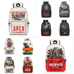 d081920c3cc9 Apex legends backpack Respawn day pack New hero school bag Game packsack  Leisure rucksack Sport schoolbag Outdoor daypack TC190227W 25PCS