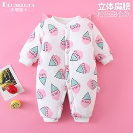 hoodie jumpsuits rompers Australia - 2019 Newborn Baby Winter Hoodie Clothes Polyester Infant Baby Girls Climbing New Spring Outwear Rompers 0-12 M Boy Jumpsuit