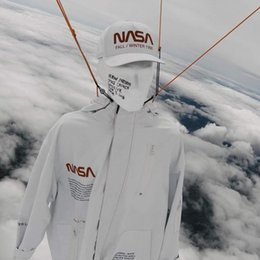 Clouds Jacket Australia - Heron Preston NASA Astronaut Style Flying Parka Jacket Above the Clouds 3M Reflective Coat Men And Women Couple Jacket HFSSJK038