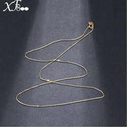 Gold 18k Pure Australia - 18 Inch Xf800 Pure 18k Yellow Gold Necklace Chain Au750 Gold Fine Jewelry For Wedding G02 Y19052301
