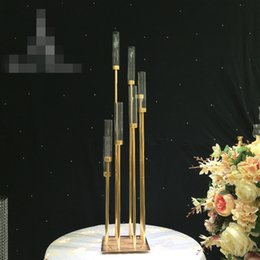 Flower Vases For Table Decorations Australia - New Wedding Gold Road Lead Flower Table Vase Stand for Wedding Centerpiece Decoration best01091