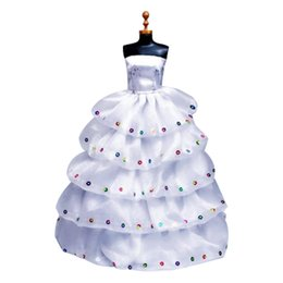 Evening Gowns Accessories Australia - Handmade Fashion Wedding Party Gown Dresses Doll Clothes For Doll Xmas Gift Evening Dress Accessories Toys Clothes (No Br