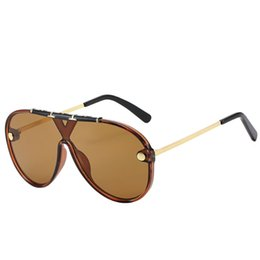 $enCountryForm.capitalKeyWord UK - Women's Men's Siamese Large Metal Frame Sunglasses Women's Classic Frame One-piece Sunglasses Europe and America Classic Men's Sunglasses