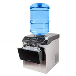 Toptan satış BEIJAMEI Fabrika Elektrikli Buz Makinesi ticari homeuse tezgah mermi buz makineleri Otomatik buz küpü makinesi