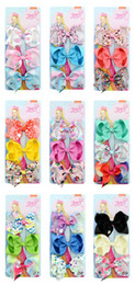 $enCountryForm.capitalKeyWord NZ - Children's Joio Hairpins Hair Bows Decoration Set Flowers 3 Colors A Card Bow Hair Clip Baby Headdress Polyester Rib Tape Multicolor