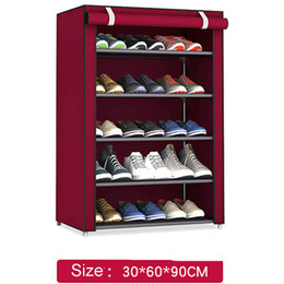 $enCountryForm.capitalKeyWord NZ - Non-woven Fabric Storage Shoe Rack Hallway Cabinet Organizer Holder 4 5 6 Layers Assemble Shoes Shelf Diy Home Furniture Q190610