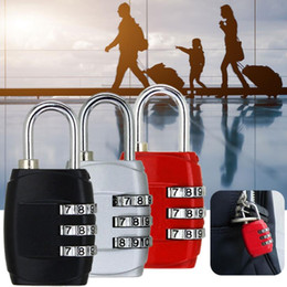 New Resettable 3 Dial Digit Combination Suitcase Luggage Password Code Lock Padlock Travel Bags Security Lock Girl Like Zinc Alloy 8 Colors on Sale