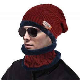 $enCountryForm.capitalKeyWord Australia - Winter Beanie Hat Scarf Set Slouch Warm Knit Hat Neck Warmer Scarf for Student Teenagers Outdoor Sports