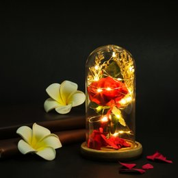 Wholesale preserve flowers for sale – custom LED Luminous Artificial Preserved Rose Romantic Decorative Flower Wedding Valentine s Day Gift For Lover Birthday1