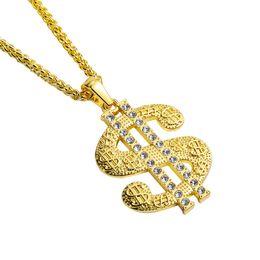 Long Big Pendants Australia - Fashion Men Hip Hop Big Pendant Necklace Jewelry 18k Gold Plated Full Rhinestone 75cm Long Chain American Star Popular Wear For Mens