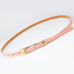$enCountryForm.capitalKeyWord Australia - 8 Colors Thin Pu Leather adjustable Belt Elegant Female Red Brown Black White Yellow Waist Women Dress Belts Strap Wholesale
