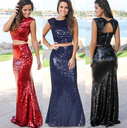 $enCountryForm.capitalKeyWord Australia - Europe and the United States summer explosion models new sexy fishtail evening dress women's two-piece suit sequined dress 628