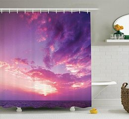 Curtains Styles Designs UK - Flowers in Soft Colors and Floral Design Blurred Style, Polyester Fabric Bathroom Shower Curtain Set with Hooks, Navy Red Orange