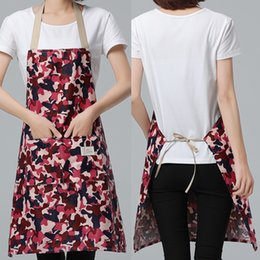 $enCountryForm.capitalKeyWord Australia - New Fashion Women men Camo Thick Apron For Kitchen Pinafore For Baking Accessories Chef Apron Commercial Restaurant Home Bib T8190627