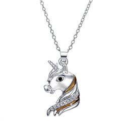 Necklace for horse online shopping - 10Pcs Bohemia Ethnic Unicorn Horse charms Pendants Necklace for Women Clavicle necklace Animal Necklaces Jewelry gift